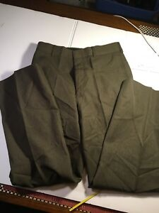 USMC-MARINE-CORPS-ENLISTED-NCO-OFFICER-SERVICE-DRESS-GREEN-TROUSERS-PANTS-31
