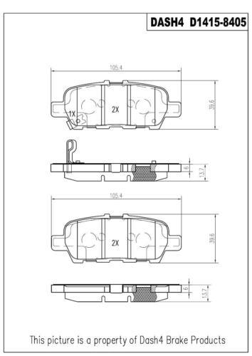 Disc Brake Pad Set-Premium Ceramic Pads Rear Dash 4 Brake CFD1415