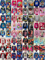 Boys Girls Kids Toddler Disney Character Long Short Sleeve Pyjamas pjs Age 1-10