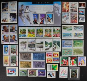 CANADA-Postage-Stamps-1991-Complete-Year-set-collection-Mint-NH-See-scans