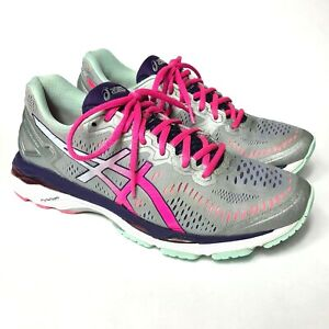 separation shoes 57aaa 08ed3 Details about ASICS GEL-Kayano 23 Women's Size 9.5 Running Shoes  Silver/Pink Glow/Purple