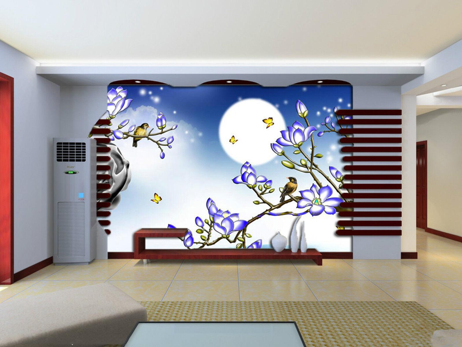 3D Hell Mond 827  Fototapeten Wandbild Fototapete Bild Tapete Familie Kinder DE