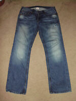 TRUE RELIGION Mens RICKY GIANT BIG T 34 x 34 Loaded Gun USA 100% cotton Jeans