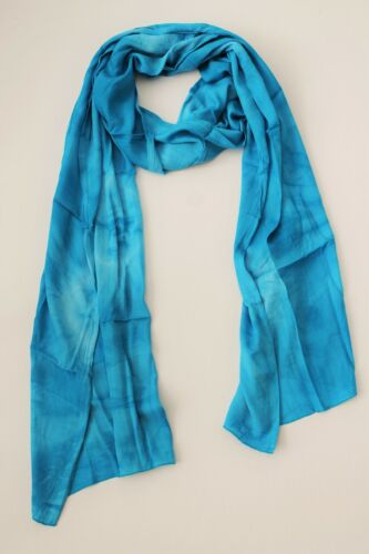 BRAND NEW HANDMADE EXTRA LONG LIGHT BLUE TIE DYE SCARF SARONG FREE POST SCL010