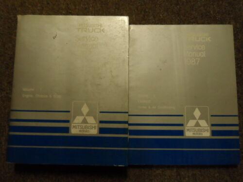 1987 MITSUBISHI Truck Service Repair Shop Manual 2 VOL SET OEM FACTORY BOOK 87