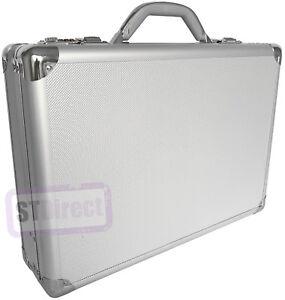 PRO in alluminio argento Laptop Imbottita Valigetta Attache Custodia Rigida Borsa da Trasporto flight  </span>