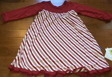 Kickee Pants 2017 Crimson Candy Cane Stripe Swaddling Blanket Swaddle New