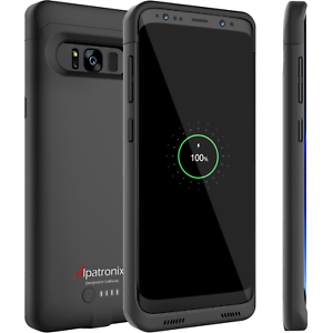 new style a90e7 2fe01 Details about Samsung Galaxy S8 Battery Case Slim Charger Cover with Qi  Charging by Alpatronix