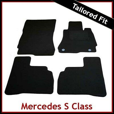 MERCEDES S-CLASS W221 SWB 2006-2013 CLASSIC Tailored Black Car Floor Mats