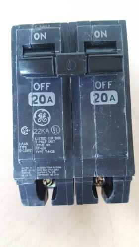 GE THHQB2120 20 AMP 240 VOLT 2 POLE BOLT IN CIRCUIT BREAKER