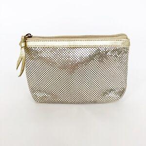 Jana-Feifer-Womens-Handbag-Gold-Metallic-Leather-Metal-Mesh-Chain-Mail-Clutch