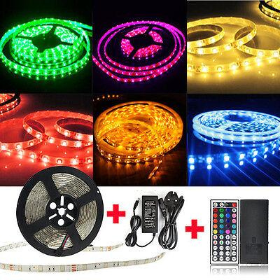 5M 5050 SMD RGB 150 LED Waterproof Flexible Strip Light12V+Receiver+Remote Kit
