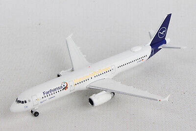 Herpa Lufthansa Airbus A321 1:500 Diecast Commercial AirlinesPlane Model 508797