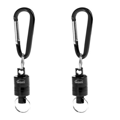 2pcs Magnetic Net Landing Holder Gear Release Tool Fly Fishing Tackle Black