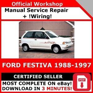 FACTORY WORKSHOP SERVICE REPAIR MANUAL FORD FESTIVA 1988 ...