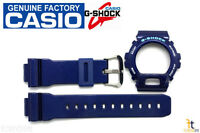 Casio G-shock Dw-6900cc-2w Original Blue Metallic (glossy) Band & Bezel Combo
