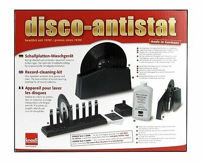 Knosti Disco Antistat Vinyl Record Cleaning Machine Cleaner Kit  (New  Model)