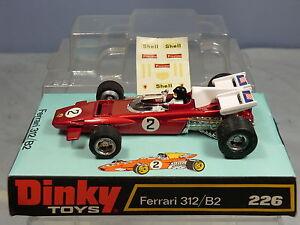 Mib de voiture de course Ferrari 312 / B2 modèle No.226 modèle Dinky Toys