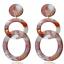 Women Bohemia Acrylic Acetate Leopard Hoop Double Circle Dangle Stud Earrings