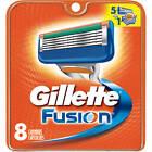 Gillette Fusion Men's Razor Blade Refills 8 Pieces