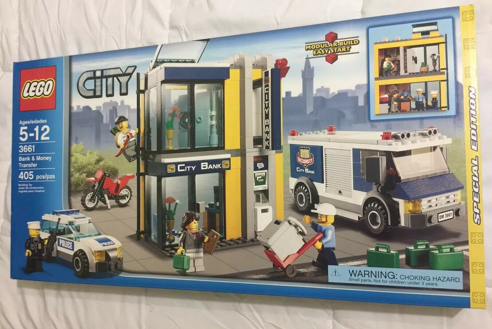 New New New in Factory Sealed Box LEGO City Special Edition Set Bank&Money Transfer3661 283f8e