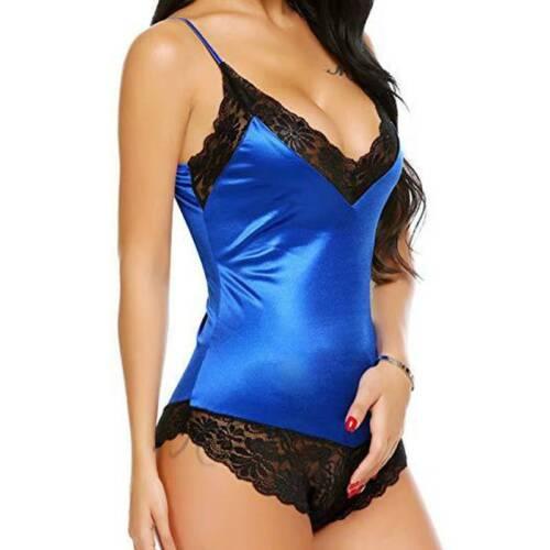 Details about  /Womens Ladies Lace Lingerie Chemise Teddy Babydoll Bodysuit Sleepwear Nightwear