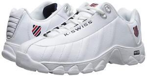 Men K-Swiss ST329 CMF Training 03426-130 White Navy Red 100% Original Brand New