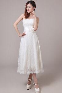 Brautkleid Hochzeitskleid Standesamt Spitze Kleid für ...