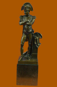 12-034-Western-Hot-Cast-Bronze-France-Napoleon-Bonaparte-Sculpture-Lost-Wax-Method