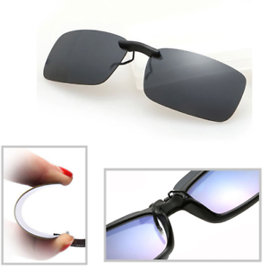 Black-Grey-Polarized-Clip-On-Driving-Glasses-Sunglasses-Day-Vision-UV400-Lens
