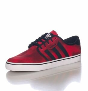 official photos 86657 8bf76 Image is loading Adidas-Seeley-Red-Nero-Rosso-C76312-Lifestyle-Men-