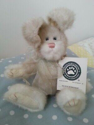 """Boyds Bears Buffie Bunnthop In Pensione 8"""" Peluche Coniglio Bunny/nuovo Con Etichette-mostra Il Titolo Originale"""
