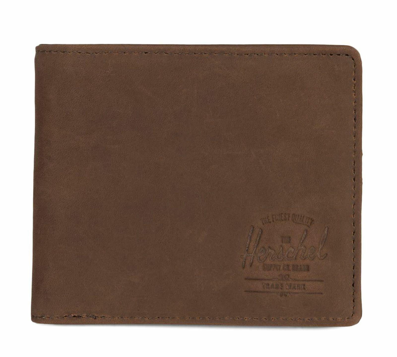 Herschel Roy Plus Coin XL RFID Wallet Geldbörse Nubuck Braun Neu