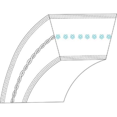 Keilriemen für Case Rasenmäher Riemen Kevlar 12,7mm x 1651 LA FGP013453
