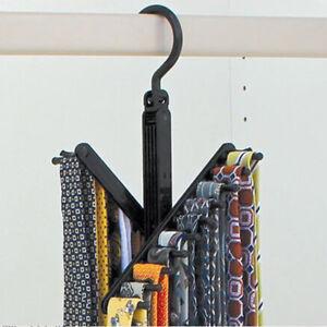 Incroyable Details About Adjustable Necktie Cross Hanger Compact Closet Organizer  Criss Cross Design