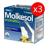 Pack 3 Units Molkesol Enzymatic Vanilla With Stevia 10 30 Envelopes Ynsadiet