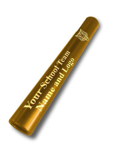 Custom YELLOW Aluminum Track Field Relay Baton Personalized Gift Your Team Name