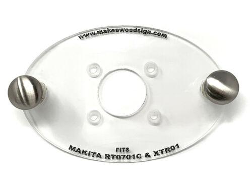 Makita Cordless XTR01 Palm Router Acrylic Base Plate