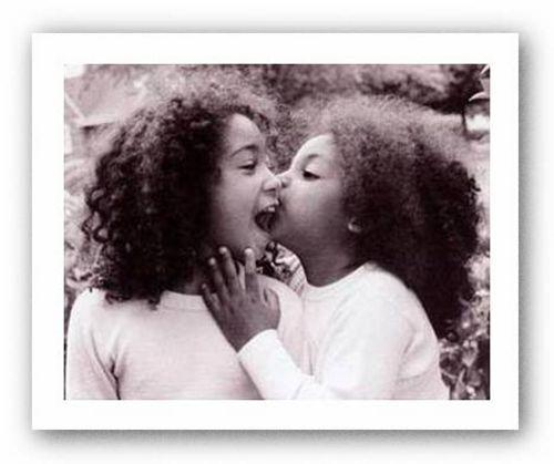Sisters Kelly Johnson African American Art Print 14x11