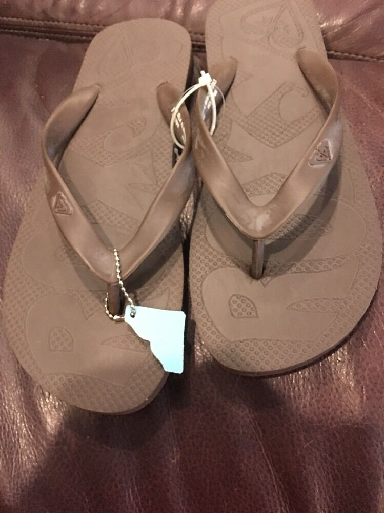 New Roxy Women's  Thongs Sandals Flip Flop, Brown 8 Thongs  Shoes e833f1