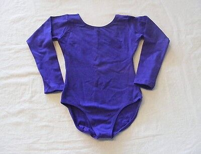 Eurotard 10408 Purple LG Slight Faded Child L//S Leotard