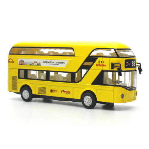 FEICHAO 1:50 Alloy Double Decker Bus 2-Floor Pull Back Travel Bus Car Vehicle