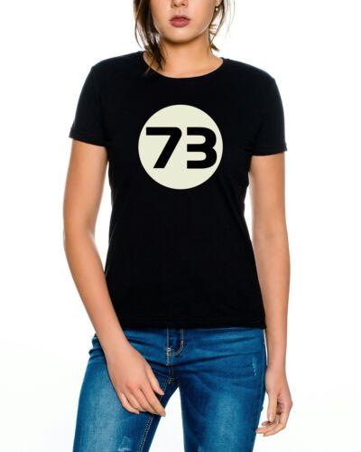 Big Sheldon 73 style Nerd Bang Theory T-Shirt Femmes
