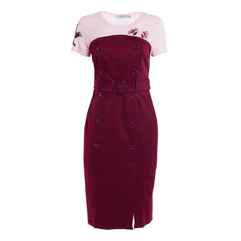 Women's Girl's Layered Pencil Short Sleeve Dress. New  Ship Free
