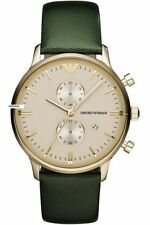 Emporio-armani-AR1722-RETRO-Saffiano-leather-strap-MENS-WATCH-chronograph