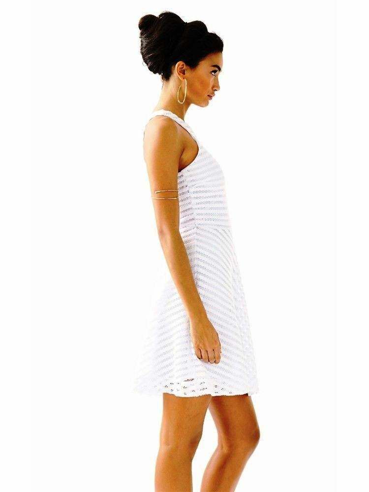 Lilly Pulitzer NWT Megyn Crochet Knit Dress White  198.00 Size XL
