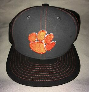 factory authentic 34e2c 20b8e Image is loading Clemson-Tigers-New-Era-9FIFTY-Snapback-Hat