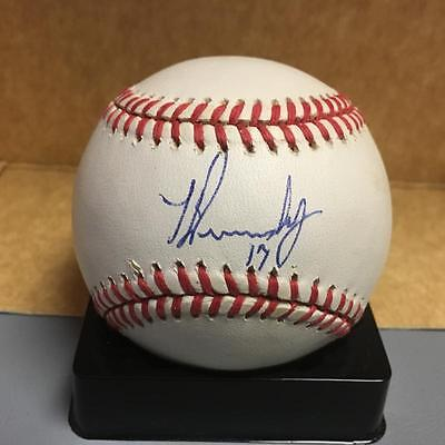 Brilliant Todd Dunwoody Florida Marlins N.l Balls Signed Baseball W/coa Elegant In Style