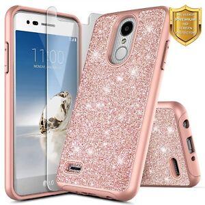 timeless design bd68f 86708 Details about For LG Rebel 2, Risio 2, LG Fortune Case | Glitter Bling Slim  Hybrid Case Cover