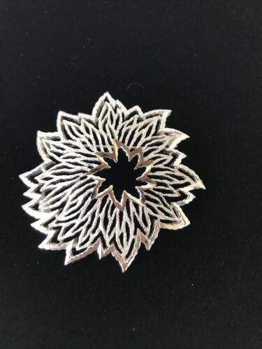 Vintage Crown Trifari Silver Tone  Pin Brooch